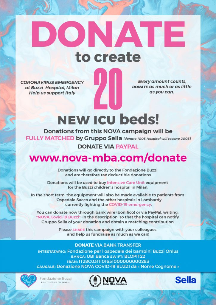 NOVA fundraising for coronavirus emergency